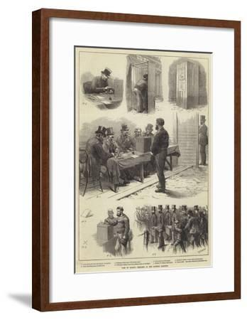 Vote by Ballot, Sketches at the Taunton Election-Charles Joseph Staniland-Framed Giclee Print