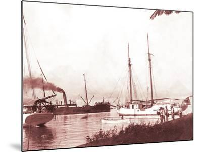 Papeetee Harbor, 1870s, Tahiti, Late 1800s-Charles Gustave Spitz-Mounted Photographic Print