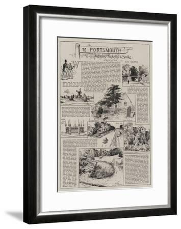 To Portsmouth with Nicholas Nickleby and Smike-Charles Joseph Staniland-Framed Giclee Print