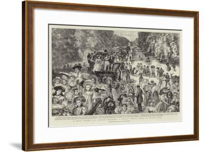 A Day's Outing for London Children, a Sunday School Treat in Bushey Park-Charles Paul Renouard-Framed Giclee Print