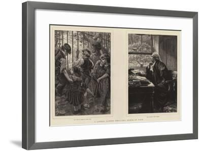 A London Garden from Two Points of View-Charles Joseph Staniland-Framed Giclee Print