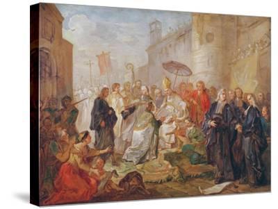 The Solemn Entry of Monseigneur Nicolas-Joseph De Paris as Bishop of Orleans in 734, 1745-Charles Joseph Natoire-Stretched Canvas Print