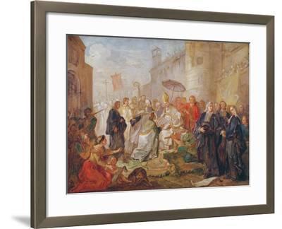 The Solemn Entry of Monseigneur Nicolas-Joseph De Paris as Bishop of Orleans in 734, 1745-Charles Joseph Natoire-Framed Giclee Print