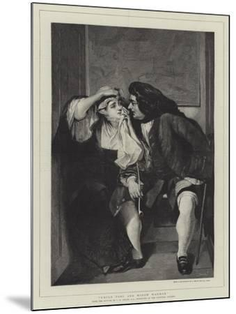 Uncle Toby and Widow Wadman-Charles Robert Leslie-Mounted Giclee Print