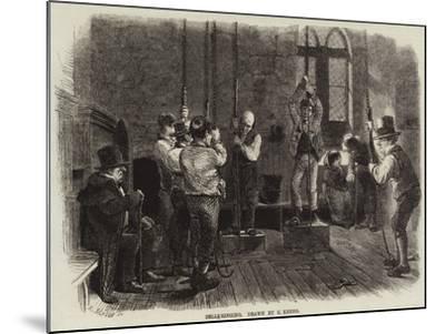 Bell-Ringing-Charles Keene-Mounted Giclee Print