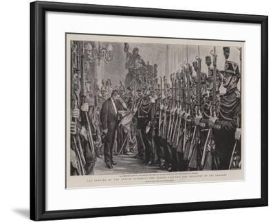 The Opening of the French Assembly, the Guards Saluting the President of the Chamber-Charles Paul Renouard-Framed Giclee Print