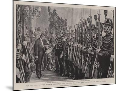 The Opening of the French Assembly, the Guards Saluting the President of the Chamber-Charles Paul Renouard-Mounted Giclee Print
