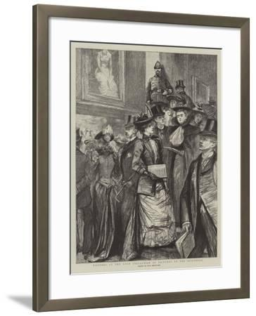 Visitors at the Loan Collection of Pictures at the Guildhall-Charles Paul Renouard-Framed Giclee Print
