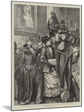 Visitors at the Loan Collection of Pictures at the Guildhall-Charles Paul Renouard-Mounted Giclee Print