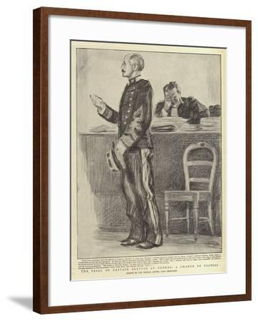 The Trial of Captain Dreyfus at Rennes, a Change of Tactics-Charles Paul Renouard-Framed Giclee Print