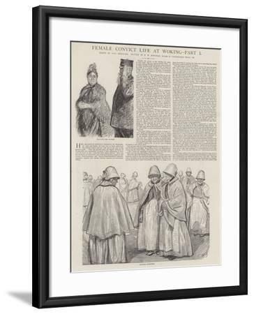 Female Convict Life at Woking-Charles Paul Renouard-Framed Giclee Print
