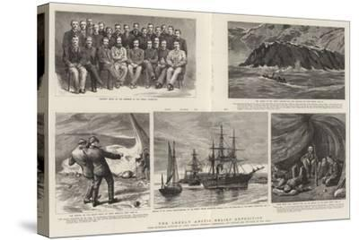 The Greely Arctic Relief Expedition-Charles William Wyllie-Stretched Canvas Print