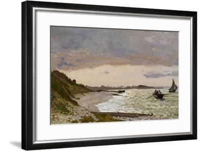 The Seashore at Sainte-Adresse, 1864-Claude Monet-Framed Giclee Print