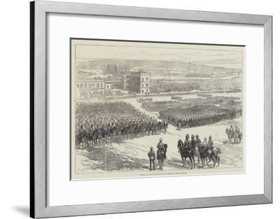 Review of Indian Troops on the Floriana Parade, Malta-Charles Robinson-Framed Giclee Print