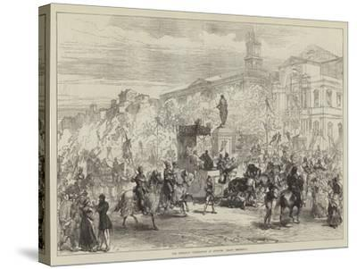 The Petrarch Celebration at Avignon, Grand Procession-Charles Robinson-Stretched Canvas Print