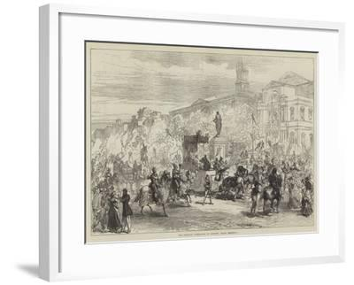 The Petrarch Celebration at Avignon, Grand Procession-Charles Robinson-Framed Giclee Print