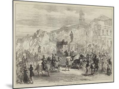 The Petrarch Celebration at Avignon, Grand Procession-Charles Robinson-Mounted Giclee Print