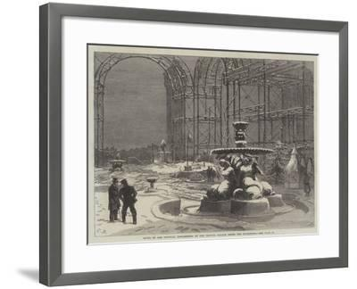 Ruins of the Tropical Department of the Crystal Palace after the Snowstorm-Charles Robinson-Framed Giclee Print