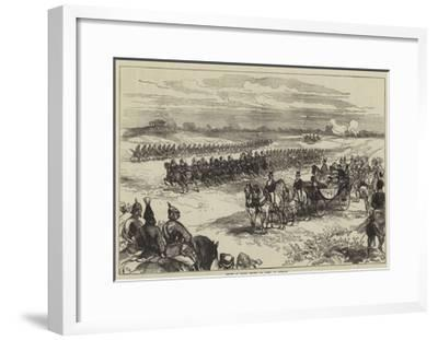 Review of Troops before the Queen, at Chobham-Charles Robinson-Framed Giclee Print