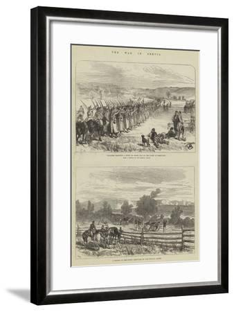 The War in Servia-Charles Robinson-Framed Giclee Print