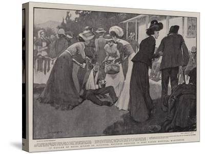 In Danger of Being Killed by Kindness, Wounded Soldiers in Fort Napier Hospital, Maritzburg-Claude Shepperson-Stretched Canvas Print