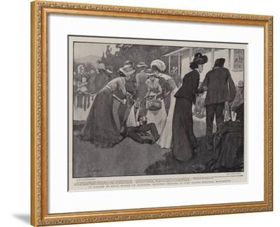 In Danger of Being Killed by Kindness, Wounded Soldiers in Fort Napier Hospital, Maritzburg-Claude Shepperson-Framed Giclee Print