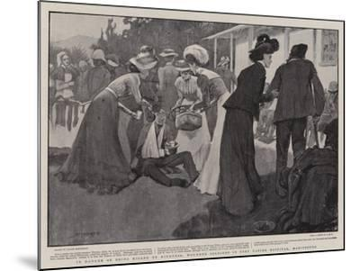 In Danger of Being Killed by Kindness, Wounded Soldiers in Fort Napier Hospital, Maritzburg-Claude Shepperson-Mounted Giclee Print