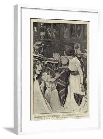 Soldiers of the Queen, a Scene at Pietermaritzburg on Mafeking Day-Claude Shepperson-Framed Giclee Print