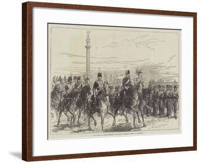 The Prince of Wales Reviewing the Norfolk Artillery Militia at Yarmouth-Charles Robinson-Framed Giclee Print