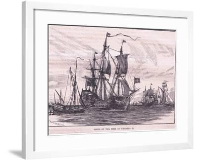 Ships of the Time of Charles II-Charles William Wyllie-Framed Giclee Print