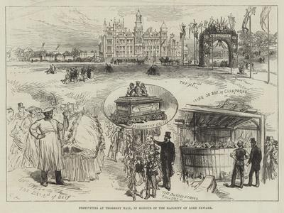 Festivities at Thoresby Hall, in Honour of the Majority of Lord Newark-Charles Robinson-Premium Giclee Print