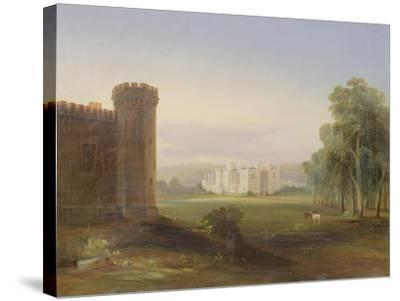Government House and Stables, Sydney, 1841-Conrad Martens-Stretched Canvas Print