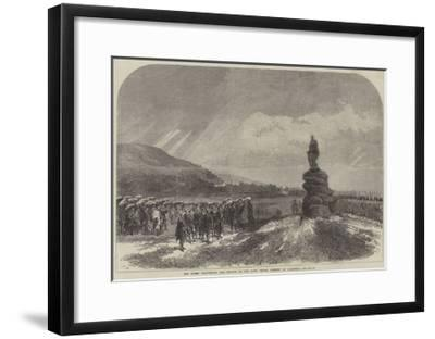 The Queen Uncovering the Statue of the Late Prince Consort at Balmoral-Charles Robinson-Framed Giclee Print