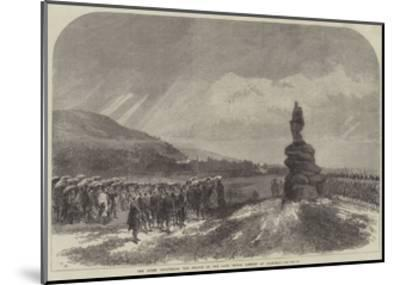 The Queen Uncovering the Statue of the Late Prince Consort at Balmoral-Charles Robinson-Mounted Giclee Print