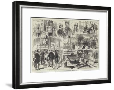 The Great Colliery Explosion in Monmouthshire, Sketches at Abercarne-Charles Robinson-Framed Giclee Print