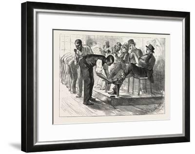 A Centennial Shine: a Sketch at the Philadelphia Exhibition, 1876, Usa-Charles Stanley Reinhart-Framed Giclee Print