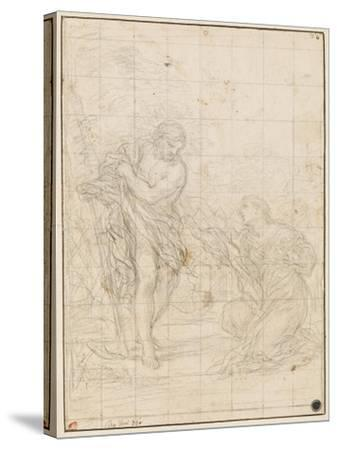 Christ Appearing to Mary Magdalene-Ciro Ferri-Stretched Canvas Print