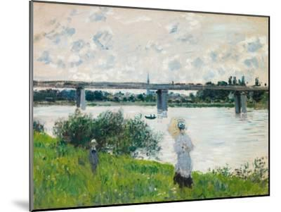 The Promenade with the Railroad Bridge, Argenteuil, 1874-Claude Monet-Mounted Giclee Print