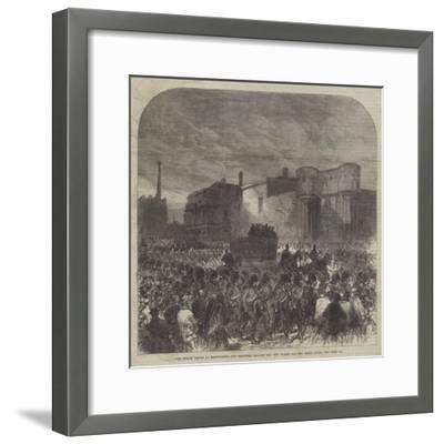The Fenian Trials at Manchester, the Prisoners Leaving the New Bailey for the Assize Court-Charles Robinson-Framed Giclee Print