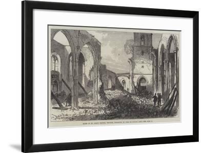 Ruins of St John's Church, Croydon, Destroyed by Fire on Sunday Last-Charles Robinson-Framed Giclee Print