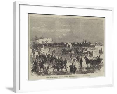 Launch of the Licensed Victualler Life-Boat at Hunstanton, Norfolk-Charles Robinson-Framed Giclee Print