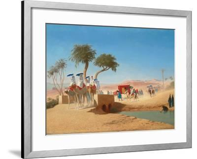 The Empress Eugenie Visiting the Pyramids-Charles Theodore Frere-Framed Giclee Print