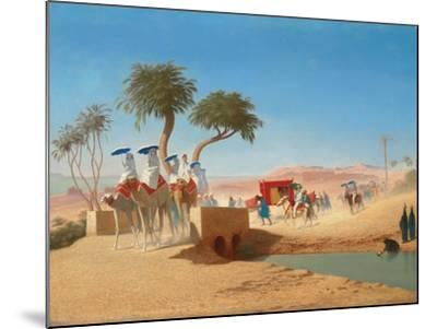 The Empress Eugenie Visiting the Pyramids-Charles Theodore Frere-Mounted Giclee Print