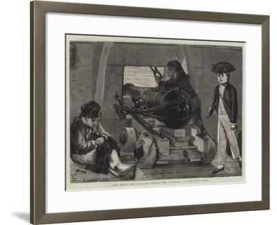Our Navy, the Past, on Board the Victory in Nelson's Time-Charles Wynne Nicholls-Framed Giclee Print