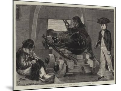 Our Navy, the Past, on Board the Victory in Nelson's Time-Charles Wynne Nicholls-Mounted Giclee Print