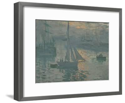 Sunrise (Marine), 1873-Claude Monet-Framed Giclee Print