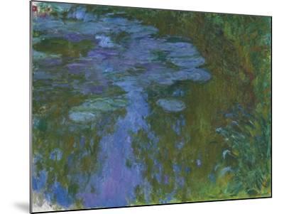 Nympheas, C. 1914-1917-Claude Monet-Mounted Giclee Print