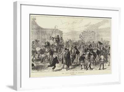 The Horse Market at Islington-Charles Robinson-Framed Giclee Print