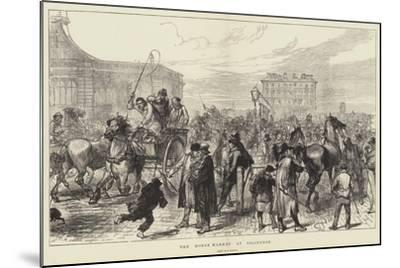 The Horse Market at Islington-Charles Robinson-Mounted Giclee Print