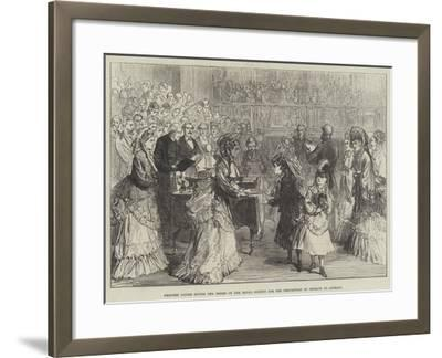 Princess Louise Giving the Prizes of the Royal Society for the Prevention of Cruelty to Animals-Charles Robinson-Framed Giclee Print